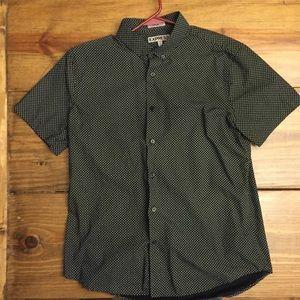 Men's Express fitted short sleeve dress shirt